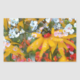 Sumer Flowers Rectangular Sticker