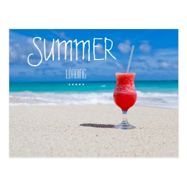 Beach Themed Sumer loading...postcard postcard