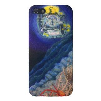 Sumergible en un arrecife de coral de alta mar iPhone 5 carcasa