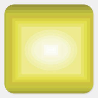 Sumergido en el diseño amarillo CricketDiane del Pegatina Cuadrada