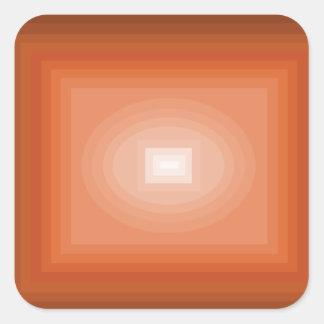 Sumergido en el diseño anaranjado CricketDiane del Pegatina Cuadrada