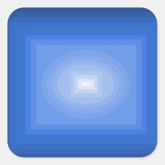 Sumergido en el diseño azul CricketDiane del arte Pegatina Cuadrada