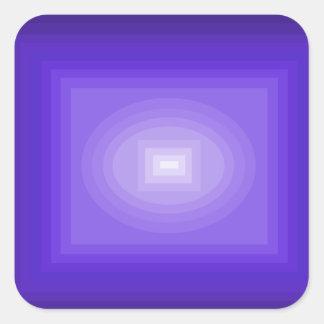 Sumergido en el diseño púrpura CricketDiane del Pegatina Cuadrada