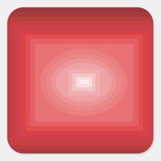Sumergido en el diseño rojo CricketDiane del arte Pegatina Cuadrada