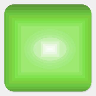 Sumergido en el diseño verde CricketDiane del arte Pegatina Cuadrada