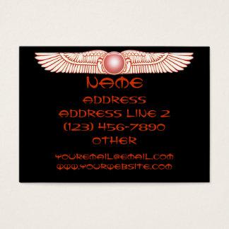 Sumerian Anunnaki Winged Sun Disk Business Cards