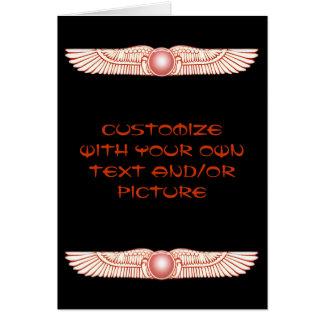 Sumerian Anunnaki Winged Sun Disk Card