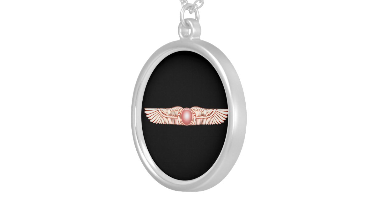 Sumerian Anunnaki Winged Sun Disk Necklace Zazzle