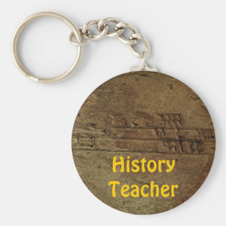 """Sumerian Cuneiform"" History Teacher Keychain"