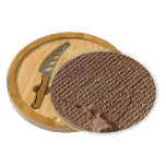 Sumerian Cuneiform Script Middle East Archaeology Round Cheese Board