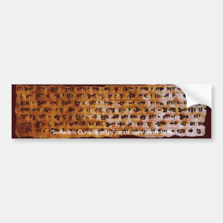 SUMERIAN CUNEIFORM WRITING Gift Series Car Bumper Sticker