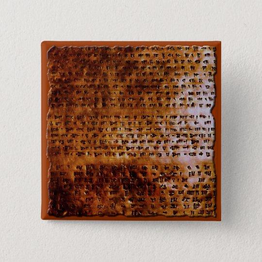 SUMERIAN CUNEIFORM WRITING Gift Series Pinback Button