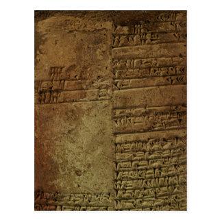 """Sumerian Cuneiform Writing"" History Postcards"