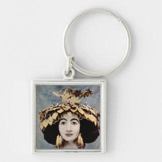 Sumerian headdress worn by Queen Shub-ad Keychain