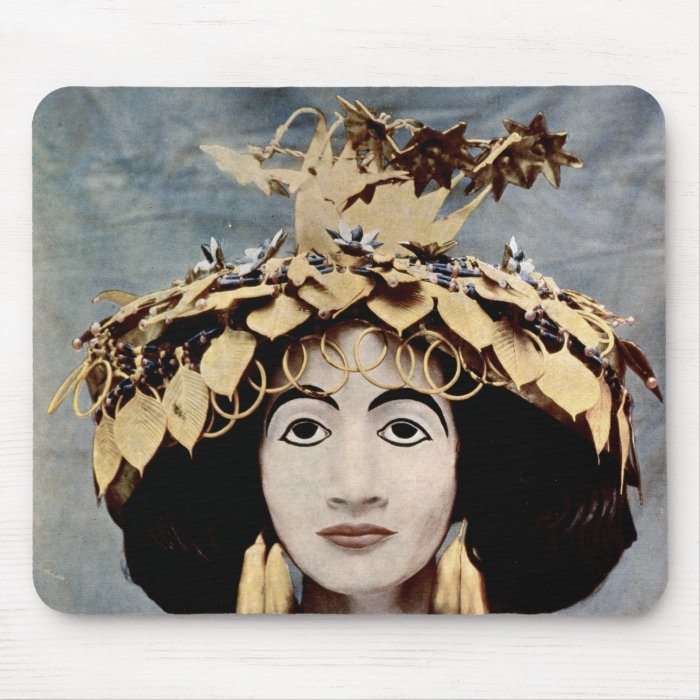 Sumerian headdress worn by Queen Shub-ad Mouse Pad