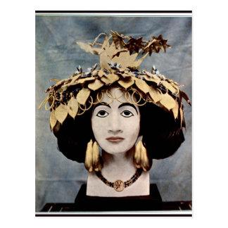 Sumerian headdress worn by Queen Shub-ad Postcard