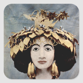 Sumerian headdress worn by Queen Shub-ad Sticker