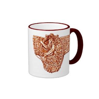 *Sumerian Mythology*  Winged Gods Ringer Coffee Mug