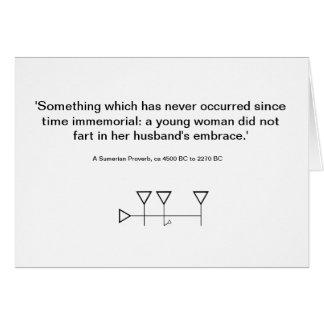 Sumerian Proverb 3 Card