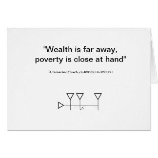 Sumerian Proverb 6 Card
