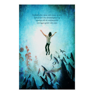 Sumerja el océano (noruego) póster