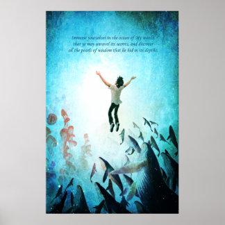 Sumerja el océano póster