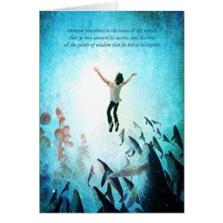 Sumerja el océano tarjeta de felicitación