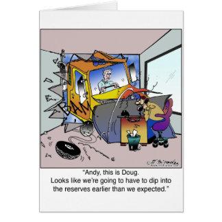 Sumerja en reservas que esperado anterior tarjeta de felicitación