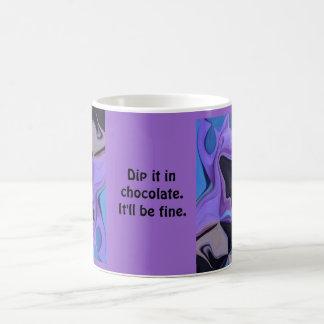 sumérjalo en chocolate taza de café