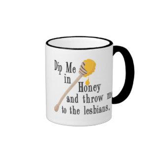 Sumérjame en miel tazas de café