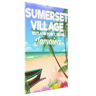 Sumerset Village Jamaica travel poster Canvas Print