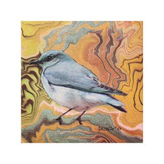 Sumi Bluebird Canvas Prints