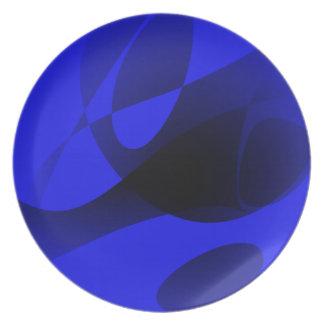 Sumi-e azul platos