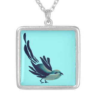 Sumi-e Bird Necklace