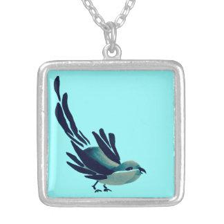 Sumi-e Bird Necklace