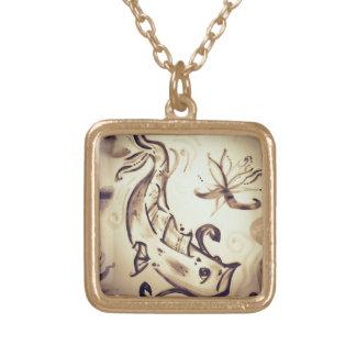 Sumi-e Koi Gold Plated Necklace