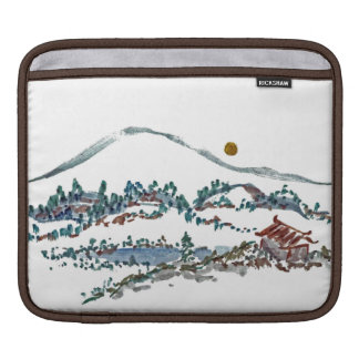 Sumi-e Landscapes - Summer Moon & Mountain Pine Sleeves For iPads