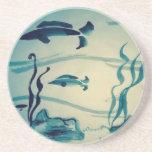 Sumi-e River Fish Coaster