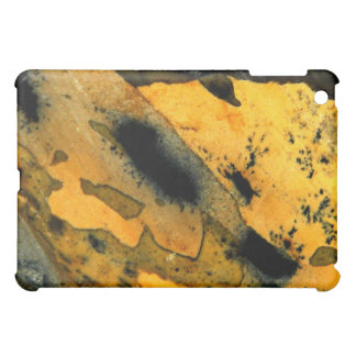 Sumi-e yellow natural jasper gemstone macro cover for the iPad mini