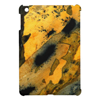 Sumi-e yellow natural jasper gemstone macro iPad mini case