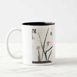 Sumi Ink Mayflower Two-Tone Coffee Mug