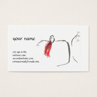 Sumi ink watercolor business card