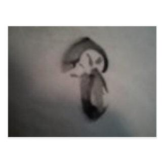 sumia' mushroom postcard