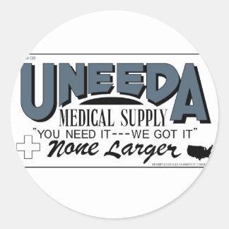 Suministro médico de Uneeda (vuelta de los muertos Pegatina Redonda