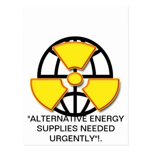 """""""Suministros de energía alternativos queridos """" * Postales"""