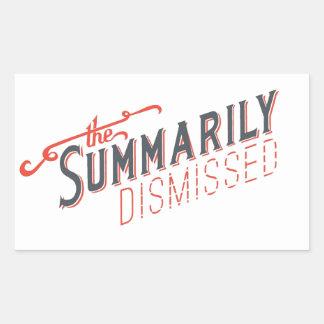 Summarily Dismissed Logo Rectangular Sticker