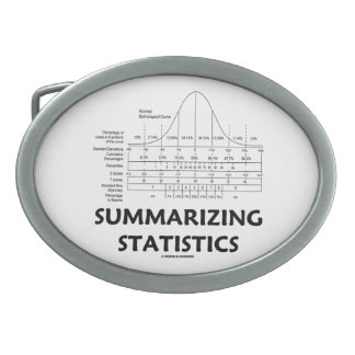 Summarizing Statistics (Bell Curve Distribution) Belt Buckle