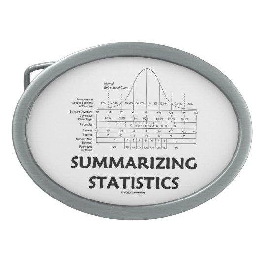 Summarizing Statistics (Bell Curve Distribution) Belt Buckle