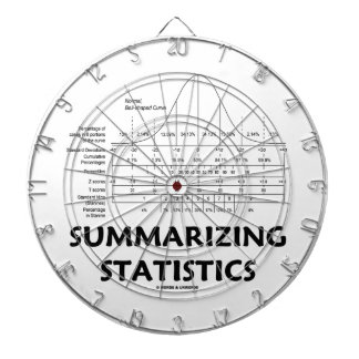 Summarizing Statistics (Bell Curve Distribution) Dart Boards