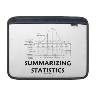 Summarizing Statistics (Bell Curve Distribution) Sleeves For MacBook Air